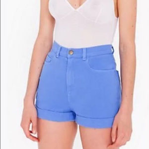 American Apparel High Waist Bull Cuff Shorts
